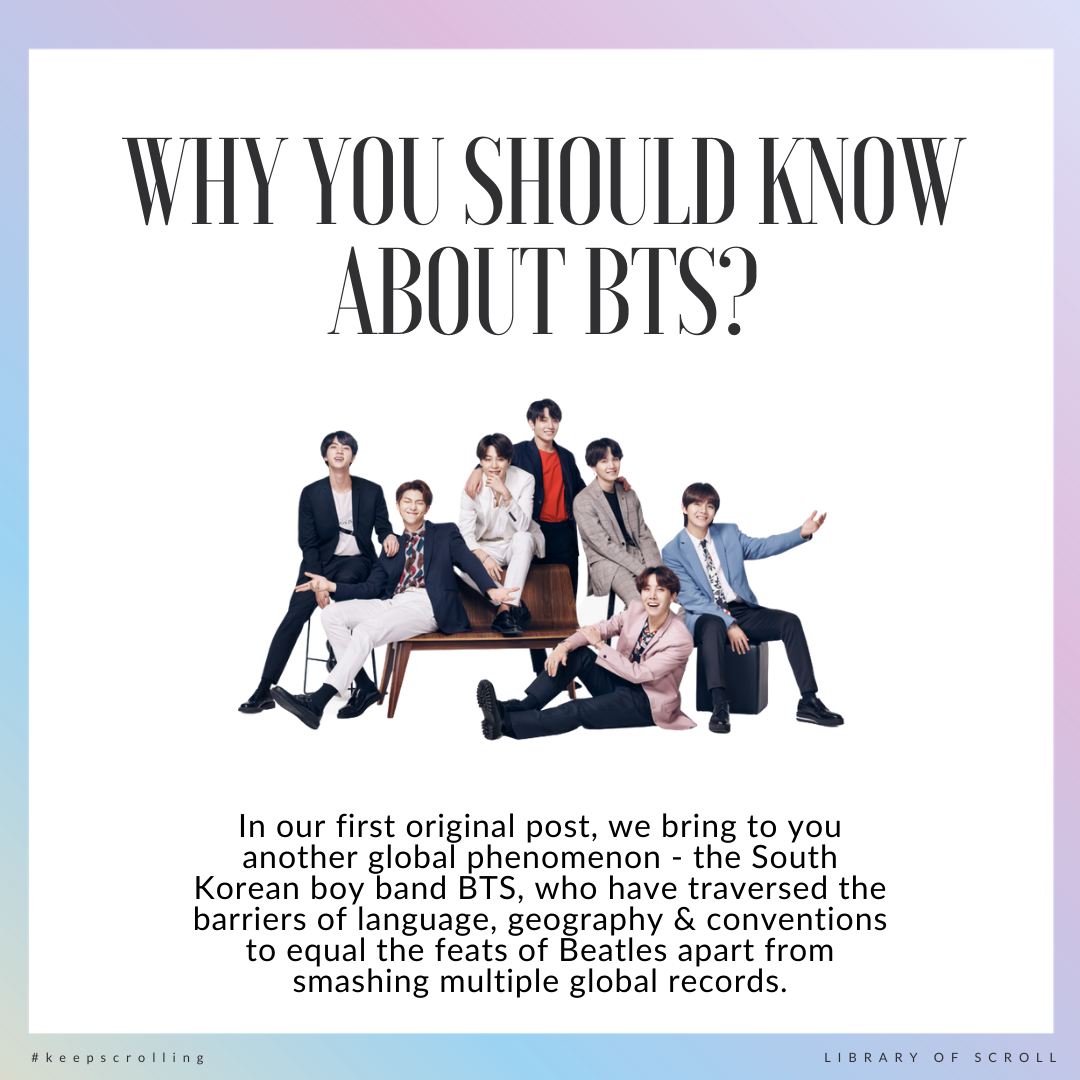 In Volume 1 of our first original piece, we dive into the world of K-pop and begin to unpack the global phenomenon that is BTS. Yes, they are a boy band — but they are so much more, and we are hooked!